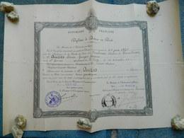 DIPLOME DE DOCTEUR EN DROIT TOULOUSE 1932 - Diploma & School Reports