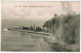"CPA Sous Marin, Submersible Le ""Watt"" En Pleine Mer, Submarine (pk44646) - Onderzeeboten"
