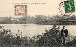 CPA - SAINT-SERNIN-du-BOIS (71) - Aspect Du Hameau Du Défend Et De L'Etang En 1909 - Other Municipalities