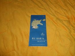 CARTE ALLEMAGNE BV-KARTE BLATT 6. / AUSGABE WESTDEUTSCHLAND. / ARAL. / ULM, RASTATT, TUTTLINGEN, KONSTANZ, KARLSRUHE... - Callejero