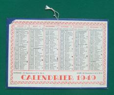 Calendrier Cartonné Petit Format - Année 1949 - Calendars