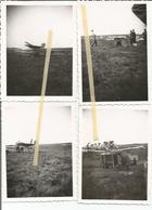 ABO Armée Belge D'Occupation En Allemagne Années 50, 4 Photos Préparation Lancement D'un Drone - Vehicles