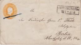 Preußen Ganzsache U 3 A Ra2 Kreuzburg Ostgebiete Ostpreußen N Berlin Ca 1852 - Preussen