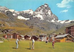 Cartolina Cervinia Breuil Campo Da Golf Animata 1970 - Unclassified