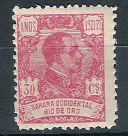 Río De Oro  137 * Alfonso XIII. 1921 Charnela - Rio De Oro