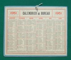 Calendrier De Bureau Cartonné Petit Format - Année 1951 - Calendriers