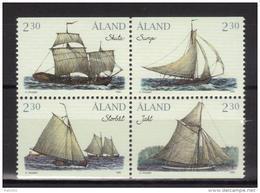 Aland 1995 N°95/98 Neufs Bateaux - Aland