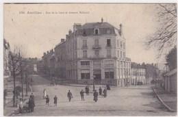 1796 Aurillac Rue De La Gare Et Avenue Milhaud Tres Animée - Aurillac