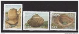 Aland 1995 N°92/94 Neufs Roches Glaciaires - Ålandinseln