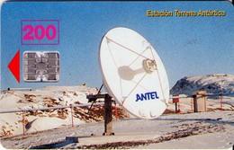 TARJETA TELEFONICA DE URUGUAY. 10a (ESTACIÓN TERRENA ANTÁRTICA) (287) - Uruguay