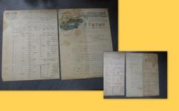 18 Vienne-lez-Blois P. FAYAU, Fabrique De STATUES, Slot 2 Lettres Commerce  Dt Illustrées 1897 ;  Ref 026VP44 - France