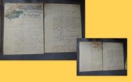 18 Vienne-lez-Blois P. FAYAU, Fabrique De STATUES, Slot 2 Lettres Commerce  Dt Illustrées 1897 ;  Ref 027VP44 - France