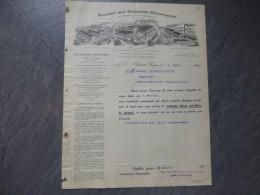 18 Vierzon-Forges, TUILERIES Mécaniques Pour Doué-la-Fontaine, Facture 1915 ;  Ref 035VP44 - Francia