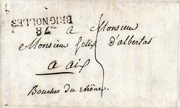 1824 - BESSE (83) - ELECTIONS à BRIGNOLLES, TOULON, DRAGUIGNAN - Historische Documenten