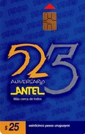TARJETA TELEFONICA DE URUGUAY. 66a (ANTEL 25 ANIVERSARIO) (290) - Uruguay