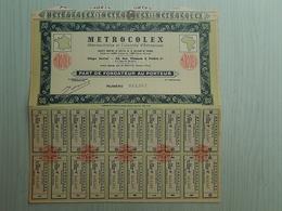 Ancienne Part De Fondateur - METROCOLEX - 015567 - Unclassified