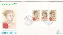 FDC. KINDERSERIE 1981. SURINAME.-BLEUP - Surinam
