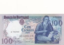 Portugal- 100 Escudos 2 Setembro 1980  (pequeno Vinco Ao Meio ) - Portugal