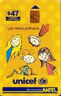 TARJETA TELEFONICA DE URUGUAY. 88a (UNICEF) (291) - Uruguay