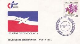 100 AÑOS DE DEMOCRACIA. REUNION DE PRESIDENTES 1989. COSTA RICA.-BLEUP - Costa Rica