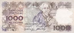 Portugal- 1.000 Escudos -20 -12-1990  (com Vincos) - Portugal