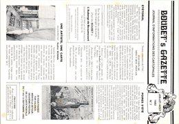 BOUBET's Gazette - Journal D'informations Des Cartophiles Avril 1982 N°7 - Oblitération - Bourses & Salons De Collections