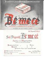2 Buvards Anciens  PRODUITS PHARMACEUTIQUES : LABORATOIRE ODINOT Rue VIOLET Paris - BE ME CE /illust.ANTAR 1931 - Produits Pharmaceutiques