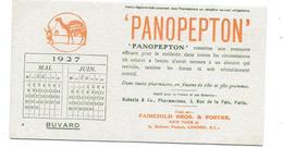 Buvard CALENDRIER 1927- PRODUITS PHARMACEUTIQUES LABORATOIRE ROBERTS & Co Paris FAIRCHILD BROS FOSTER London PANOPEPTON - Produits Pharmaceutiques