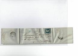 LCA4 -  NAPOLEON III 20c ND T I VALENCIENNES / DUNKERQUE 15/11/1853 VOIR DESCRIPTION - 1853-1860 Napoleon III