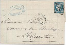 BOULOGNE SUR MER Pas De Calais Convoyeur Station Ligne 27 BOULOGNE SUR MER à AMIENS 2° + GC 85 Amiens Sur 25c Céres....G - Marcophilie (Lettres)