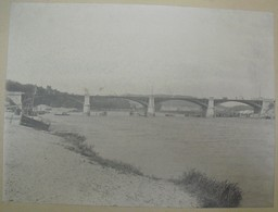 Travaux Sur Un Pont à Montereau ? - Grande Photo Fin XIXème Signée Gatefossé - Anciennes (Av. 1900)