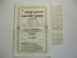 Le Grand Bazar De La Place Saint Lambert à Liège - Capital 308 000 000 - Actions & Titres