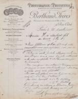 75 19 850 PARIS SEINE 1897 Photographie Photocopie BERTHAUD FRERES Rue Cadet  SUINE Rue Bellefond A HENRI MALART - 1800 – 1899