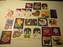 USSR RUSSIA ESTONIA , Chocolate ADVERTISING LABELS , HAPPY NEW YEAR SANTA CLAUS  , WOMEN`S DAY  , 0 - Chocolate