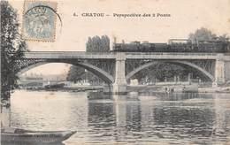 CHATOU - Perspective Des 2 Ponts - Train - Chatou