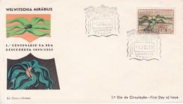 FDC. WELWITSCHIA MIRABILIS. 1° CENTENARIO DA SUA DESCOBERTA. ED OURO. OBLIT LUANDA 1959. ANGOLA-BLEUP - Angola