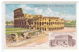 CPA-ILLUST-N.SIGNE-ITALIE-ROME-EDITION.GRAND HOTEL DE LA MINERVE-ANFITEATRO FLAVIO DETTO IL COLOSSEO - Illustratoren & Fotografen