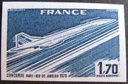 DF/948 - 1976 - POSTE AERIENNE - CONCORDE PARIS-RIO DE JANEIRO - N°49 - TIMBRE NEUF** NON DENTELE UNICOLORE - France