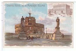 CPA-ILLUST-N.SIGNE-ITALIE-ROME-EDITION DU GRAND HOTEL DE LA MINERVE-CASTEL SAN ANGELO- - Illustratoren & Fotografen
