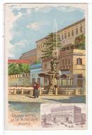 CPA-ILLUST-N.SIGNE-ITALIE-ROME-EDITION DU GRAND HOTEL DE LA MINERVE-PIAZZA BARBERINI- - Illustratoren & Fotografen