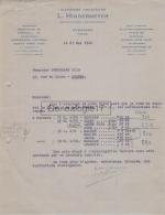 23 159 AUBUSSON CREUSE 1942 Matieres Premieres L.  HINDERMEYER Import Export ( RUDOLF MOSSE CODE ) Et PARIS à GOUTALAND - 1900 – 1949