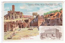 CPA-ILLUST-N.SIGNE-ITALIE-ROME-EDITION DU GRAND HOTEL DE LA MINERVE-CASA DELLE VESTALI- - Illustratoren & Fotografen