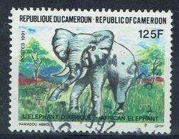 Cameroon, Elephant, 1991, VFU - Cameroon (1960-...)