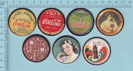 Pogs, Originale Serie #1 7 De 8  - Caca Cola, Coke Cap Pugs, - Coca-Cola