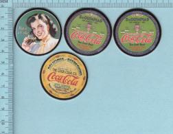 Pogs, Originale Serie #1, 4 En Tout 3 De 8  - Caca Cola, Coke Cap Pugs, - Coca-Cola