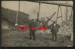 Lieu à Identifier ? - CPA PHOTO - OUVRIERS Et Excavatrice, De Marque MARION - Exploitation Minière à Ciel Ouvert !! - Mines