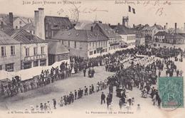 CPA Animée SAINT PIERRE Et MIQUELON La Procession De La Fête-Dieu Traditions Religion - Saint-Pierre-et-Miquelon