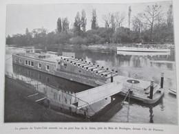 1931 Le Yacht Club De PARIS Club De Voile  Près De L Ile De Puteaux Volier Yachting - Alte Papiere