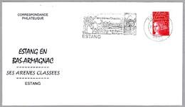 Estang En Bas-Armagnac - SES ARENES CLASSEES - TOROS - BULLFIGHTING. Estang 2002 - Fiestas