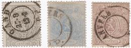 COB 23/24/25 - 1866-1867 Petit Lion (Kleiner Löwe)